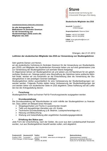 Leitfaden - Stuve Uni Erlangen-Nürnberg