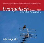 Gemeindebrief Sommer 2012 - evangelische Kirchengemeinden ...