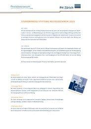 Ausschreibung Studienpreise - Pestalozzianum