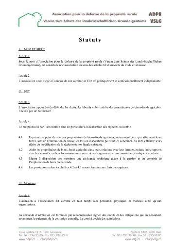 Statuts - vslg.ch