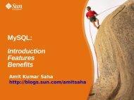 MySQL: Introduction Features Benefits