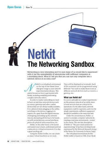 Netkit The Networking Sandbox - Sarath Lakshman