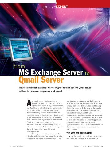 MS Exchange Server to Qmail Server - Tetra Information Services ...