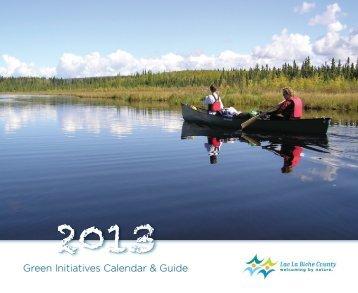 Green Initiatives Calendar & Guide - Lac La Biche County