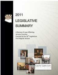 2011 Legislative Summary - County Supervisors Association