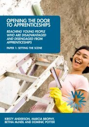 Opening the DOOr tO Apprenticeships - Partnership for Young London