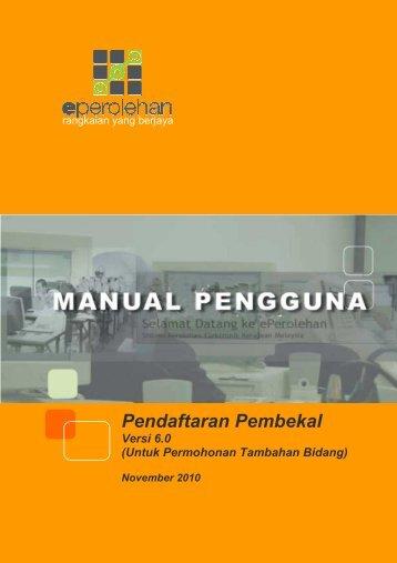 Pendaftaran Pembekal - ePerolehan