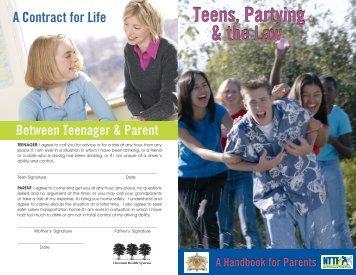 Teens, Partying & the Law Teens, Partying & the Law
