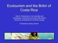Ecotourism and the Bribri of Costa Rica