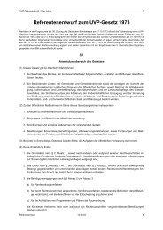 Referentenentwurf zum UVP-Gesetz 1973