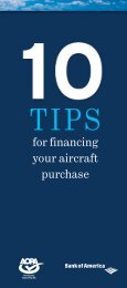 for financing your aircraft purchase