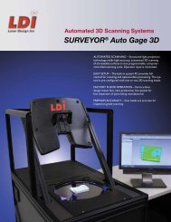 SURVEYOR® Auto Gage 3D - Laser Design | GKS
