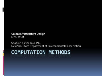 Computation Methods NYC