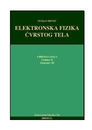 ELEKTRONSKA FIZIKA ^VRSTOG TELA - Elektronski fakultet Nis