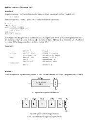 Rešenja zadataka - Septembar 2007 Zadatak 1 Logaritam osnove 2 ...