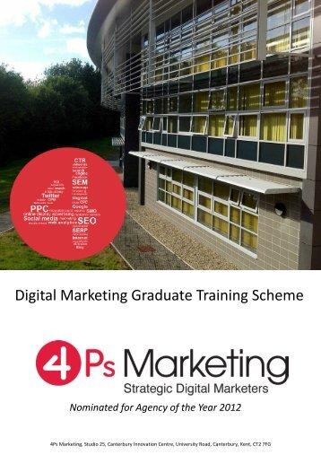 Digital Marketing Graduate Training Scheme - 4Ps Marketing