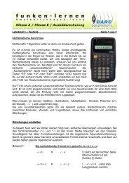 Lehrbrief 1 – Technik Seite 1 von 7 Mathematische ... - Funken-Lernen