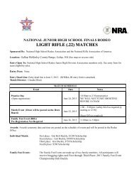 Light Rifle Competition - National High School Rodeo Association