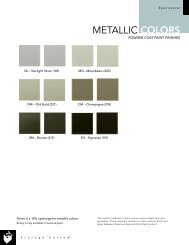 METALLIC COLORS - Modern Office Systems