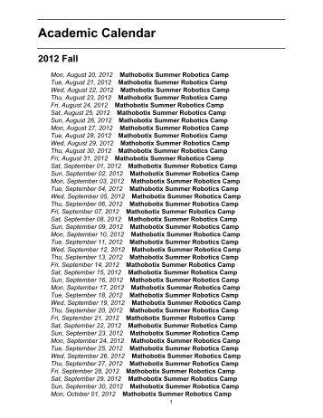 Academic Calendar - Today Calendar