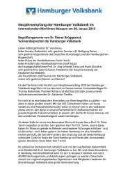 Begrüßungsworte zum Neujahrsempfang von Dr. Reiner Brüggestrat