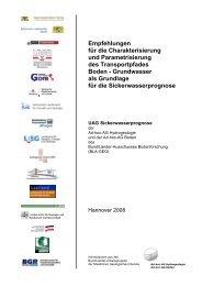 Empfehlungen für die Charakterisierung und - InfoGEO.de
