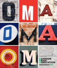 2011 Annual Report - Outdoor Media Association