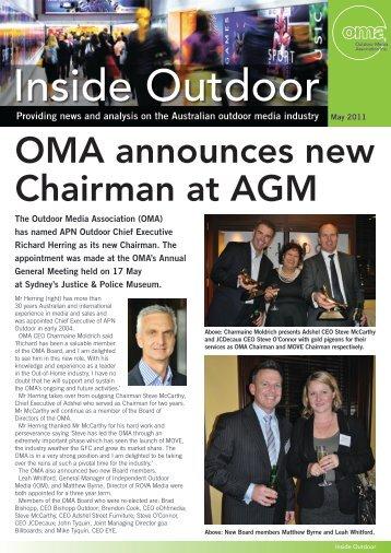 OMA Newsletter May 2011.pdf - Outdoor Media Association