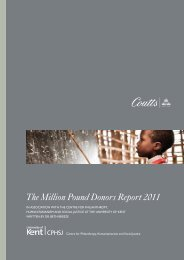 The Million Pound Donors Report 2011 - Coutts