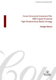 View the 100% Capital Protected High Dividend Basket ... - Coutts