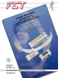 D-SUB Katalog - FCT