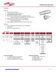Technical Data, C Series