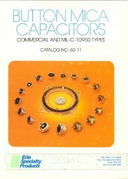 Erie Specialty Button Mica Capacitors for Commercial and MIL-C ...