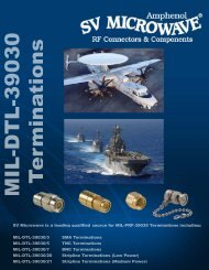 MIL-DTL-39030/3 SMA Dash numbers and ... - TrustedPartner