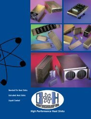 Extruded & Bonded Fin Heat Sinks - C & H Technology, Inc.