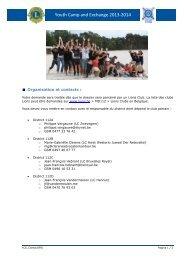 Contact Info - Lions Clubs International - MD 112 Belgium