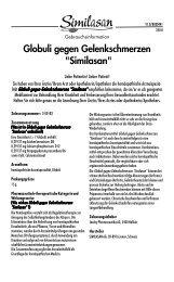 Beipackzettel GLOBULI SIMILASAN GELENK, 15 G - Online ...