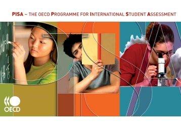 pisa – the oecd programme for international student assessment