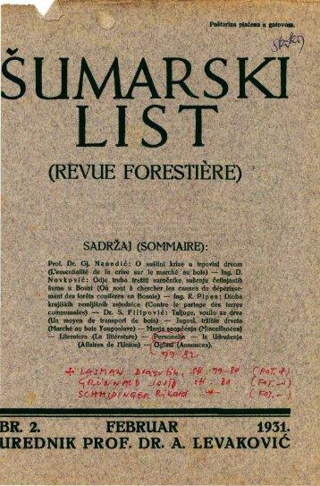 ÅUMARSKI LIST 2/1931