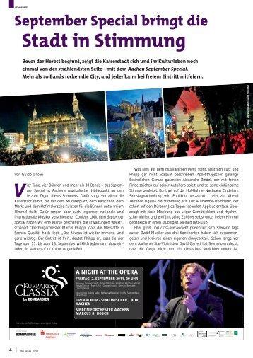 September Special bringt die Stadt in Stimmung - Bad Aachen