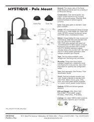 N5610343D Mystique Pole Mount Spec Sheet.indd - Phoenix Products