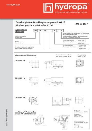 ZN 10 DB * - Hydropa GmbH & Cie. KG