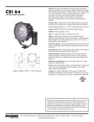 Specification Sheet - Phoenix Products