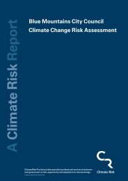 Blue Mountains Climate Change Risk Assessment Report