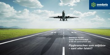Flygbranschen som miljöbov – sant eller falskt? - Swedavia