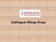 Sublingual Allergy Drops