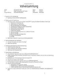 Protokoll der Vollversammlung vom 28.09.2010 - Kreisjugendring ...