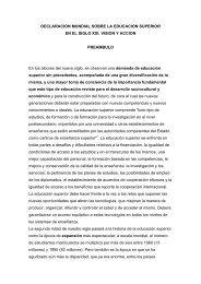 declaracion mundial sobre la educacion superior - Foro Nacional ...