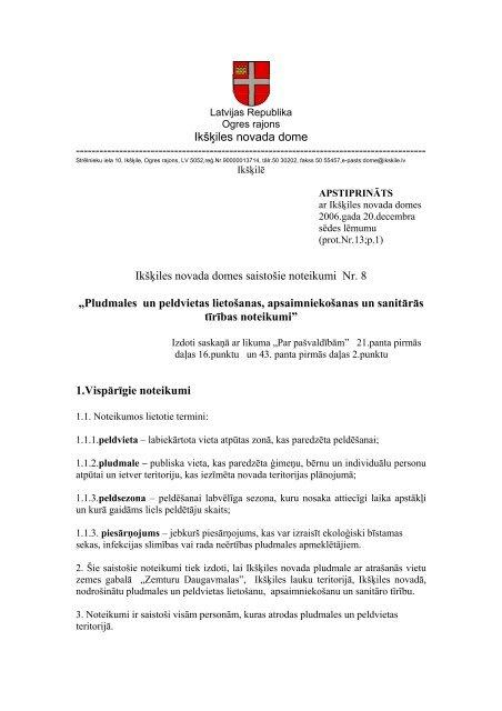 saistošie noteikumi Nr[1]. 8..pdf - Ikšķiles novada pašvaldība