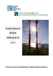 PUBLISKAIS GADA PĀRSKATS 2011 - Vides aizsardzības fonds